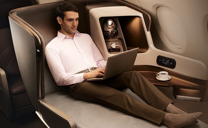 Ervaar het comfort van de Singapore Airlines Business Class